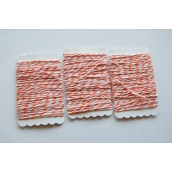 Bakers Twine orange and white 12 meters