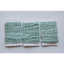 Bakers Twine green and white 12 meters
