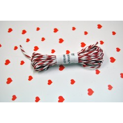 eco paper twine 5 meters -red and white