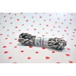 eco paper twine 5 meters -Brown and white