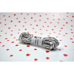 eco paper twine 5 meters -grey and white