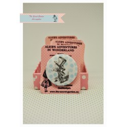 Mad hatter-Alice in wonderland-fabric covered button