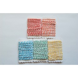 Bakers Twine 5 colors mix pack 25m +5free