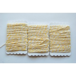 Bakers Twine yellow  and white 12 meters