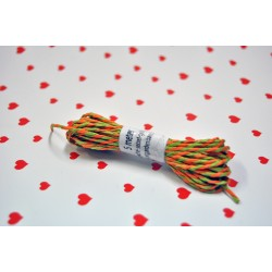 eco paper twine 5 meters -green and orange