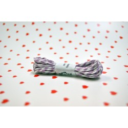eco paper twine 5 meters -purple and white