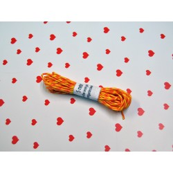 eco paper twine 5 meters -orange and yellow