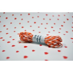 eco paper twine 5 meters -orange and white