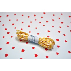 eco paper twine 5 meters -yellow and white