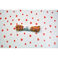 eco paper twine 5 meters -yellow and  fuschia