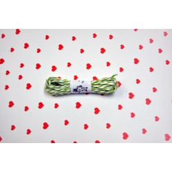 eco paper twine 5 meters - green and white