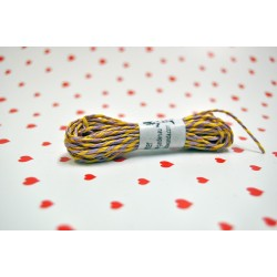 eco paper twine 5 meters -yellow and purple