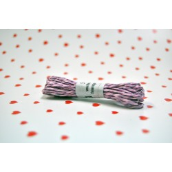eco paper twine 5 meters -pink and purple