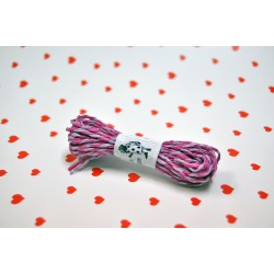 eco paper twine 5 meters -purple and fuschia