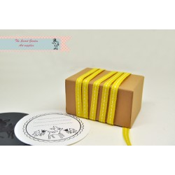 yellow stitch grosgrain ribbon , 5 meter