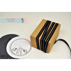 black stitch grosgrain ribbon , 5 meters