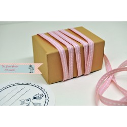 pink stitch grosgrain ribbon , 5 meter