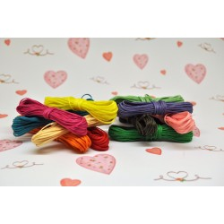 A set of 12 colors wax cord x 5meters each