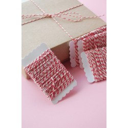 Bakers Twine red and white 12 meters